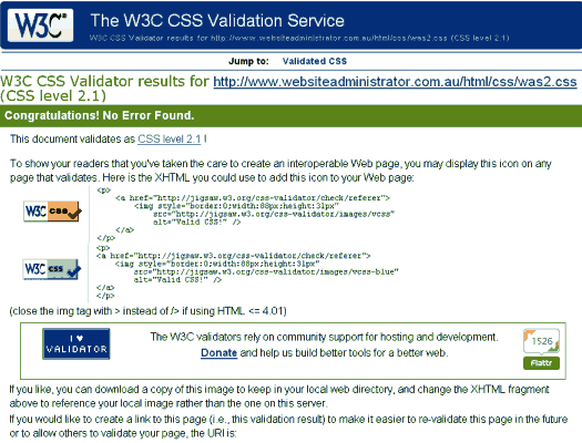 W3C Online HTML Validtaion Tool for the SEO